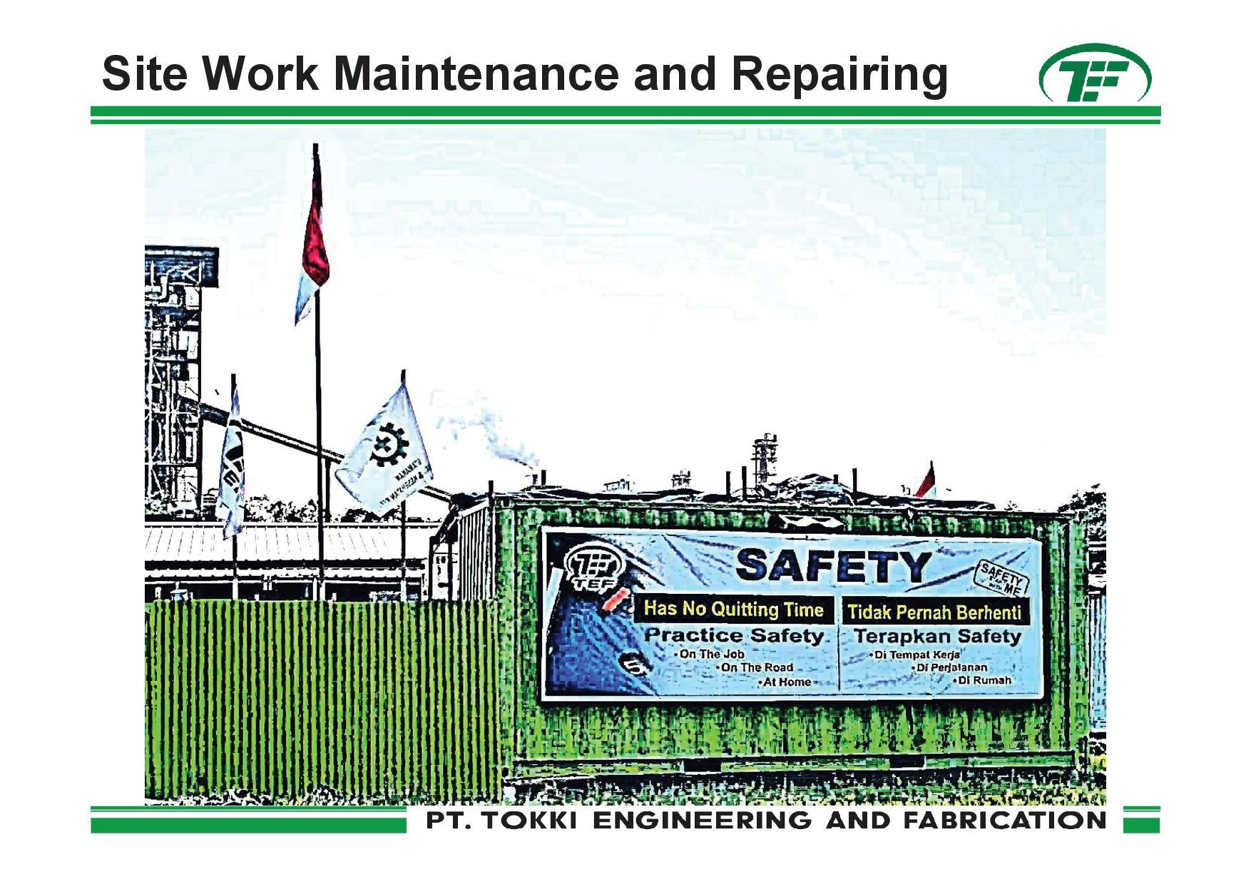 Sitework and maintenance
